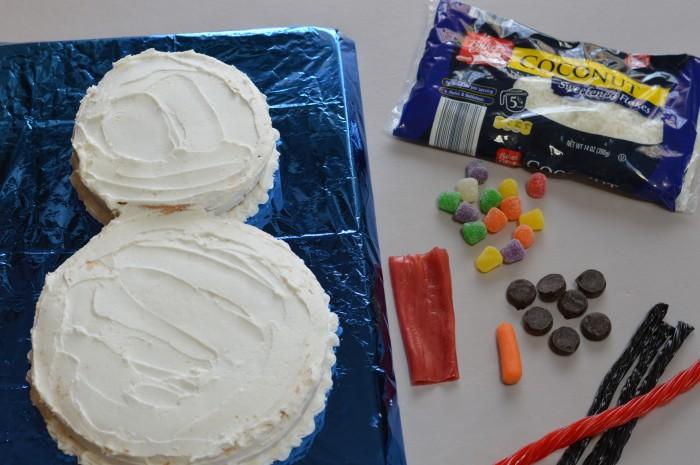 Snowman cake 2
