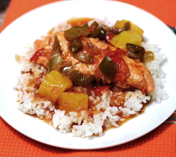 Caribbean Chicken over Rice