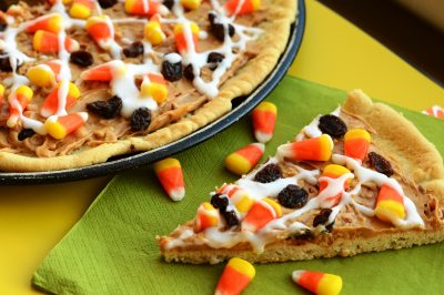 Candy Corn Cookie Pizza